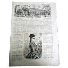 """Rare Collectable """"La Mode Illustree N19 Journal de la Famille"""" (circa 1877)"""
