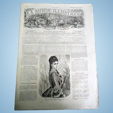 "Rare Collectable ""La Mode Illustree N19 Journal de la Famille"" (circa 1877)"