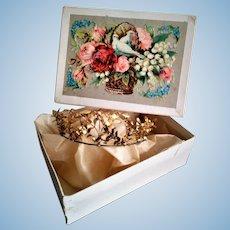 Antique Floral Design Tiara/Crown in a Box