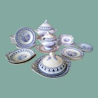 "VERY RARE English Doll Dinner Service (Cork & Edge Marklin ""Fishers"", circa 1860-1871)"