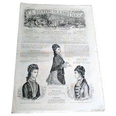 """Rare Collectable """"La Mode Illustree N15 Journal de la Famille"""" (circa 1877)"""
