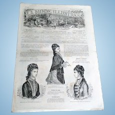 "Rare Collectable ""La Mode Illustree N15 Journal de la Famille"" (circa 1877)"