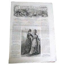 """Rare Collectable """"La Mode Illustree N17 Journal de la Famille"""" (circa 1877)"""