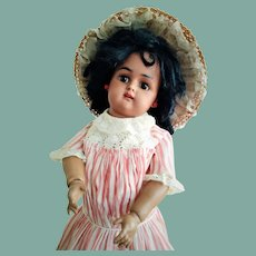 ALL ORIGINAL!!! German Bisque Child with Brown Complexion by Kammer and Reinhardt 43 (circa 1910)