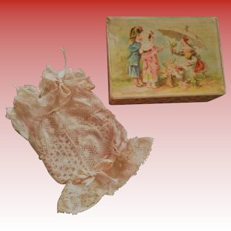 Lovely French Antique Mignonette Dress in a Box (circa 1890)