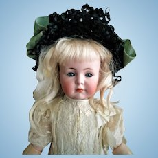 "Beloved German K&R Simon & Halbig ""Mein Liebling"" Mold 117 closed mouth Antique Doll (circa 1912)"