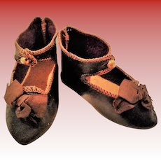 """Size 9 """"Bebe Jumeau DEPOSE"""" shoes"""