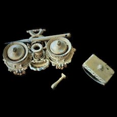 Miniature Antique French Fashion Doll Writing Suite(Inkwell set)