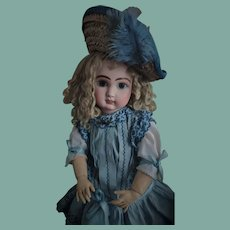 "French Antique Walking Doll known as ""Bebe Premier Pas"" by Jules Nicolas Steiner"