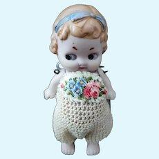 German Antique All-bisque Miniature Googly Doll