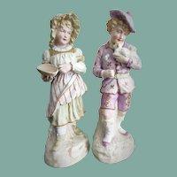 Antique Pair of Gebruder Heubach German Figurines
