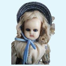 Antique German Wax over Papier-Mache Doll
