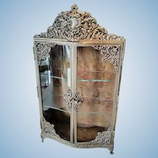 RARE French Antique Ormolu Vitrine