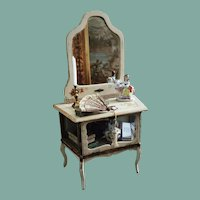 Beautiful French Antique Doll Vitrine-Dresser
