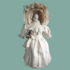 Lovely Antique Doll Dress and Bonnet