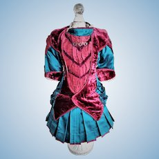 RARE Antique Authentic Dress with Tailor Name (circa 1900)