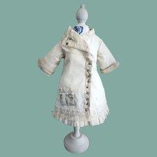 Antique Challis Wool Dress Cape