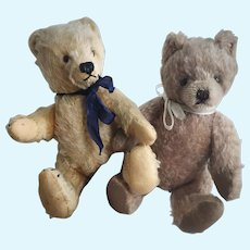 Pair of Vintage Steiff Teddy Bears