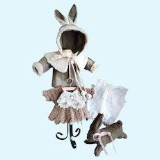 Lovely Miniature Bunny Easter / Winter Set