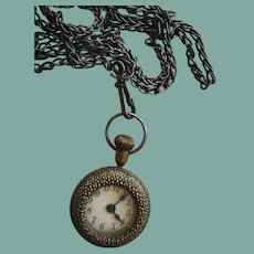Miniature Antique Necklace Doll Watch