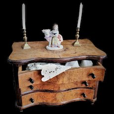 Antique Wooden Drawer for Cabinet-Size Doll