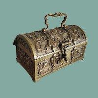 Erhard & Sohne Miniature Brass Chest