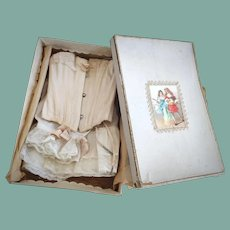 Magnificent Antique French Undergarment Set in a Box