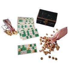 """French Antique Miniature """"Loto"""" Game"""