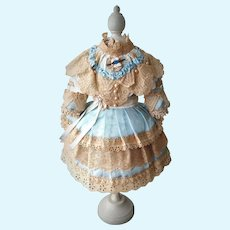 Lovely Doll Dress with River Pearls and Lace