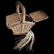 Antique German Picnic Basket