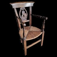 Beautiful Antique Wooden Chair / Armchair
