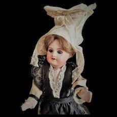 Antique S.F.B.J. /SFBJ 60 Paris 13/0 Bisque Head Doll with Closed Mouth in Original Costume (ALL ORIGINAL!!!)