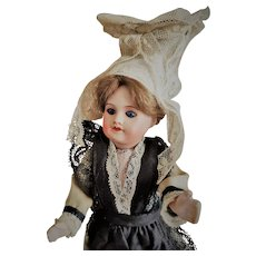 Antique S.F.B.J. /SFBJ 60 Paris 13/0 Bisque Head Doll with Closed Mouth in Original Costume (ALL ORIGINAL!!!)