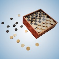 Old Wooden Checkers Board