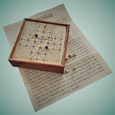 VERY RARE French Miniature Game of Inequality