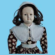 Early Papier Mache Lady Doll (supposedly Pauline by Andreas Voit)