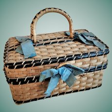 Antique French Doll Basket