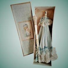 Rare Antique French Folding Parasol / Umbrella in Original Box