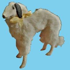RARE MINIATURE SIZE Antique German Borzoi Salon Dog Companion