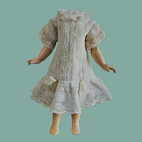 Gentle Antique Cotton and Lace Dress