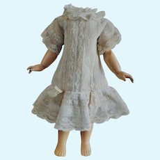 Gentle Antique Cotton and Lace Dress