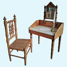 French Antique Bamboo Set