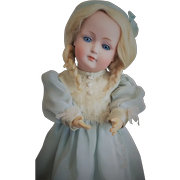 RARE German Bisque Glass-eyed Character Child by Kestner (mold 182, circa 1912)