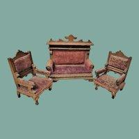 Antique German Set of Dollhouse furniture