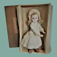 Gorgeous Antique French Bisque Bebe Steiner Series C, in Superb Costume and Au Bon Marche Box