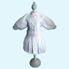 Charming Antique German Cotton Doll Dress