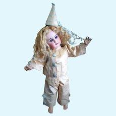 Gorgeous Jumeau in a Clown Costume