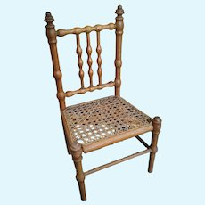 Antique French Faux Bamboo Doll Chair