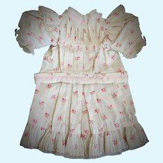 Antique Red-Flowered Chemise / Dress for Jumeau