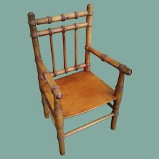 Lovely Antique Bamboo Doll Chair